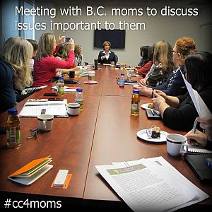 A Round Table of Moms Meets Premier Christy Clark