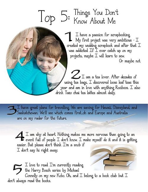 The WriteMama Unplugged: 5 things you don't know about me