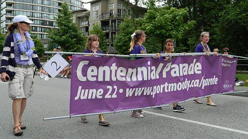 vancouver mom blogger thewritemama centennial parade banner