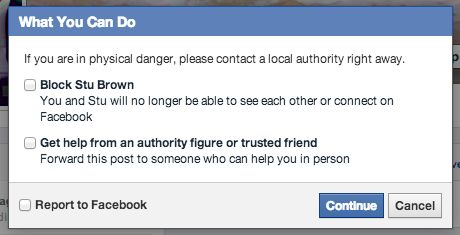 Social Reporting - Block or Ask Friend
