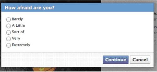 facebook scared